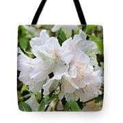 Soft White Azaleas Tote Bag