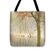 Softly Falls The Snow Tote Bag by Lori Frisch