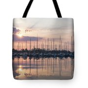 Softly - God Rays And Yachts In Rose Gold And Amethyst  Tote Bag