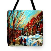 Softly Snowing Tote Bag