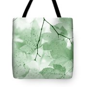 Softness Of Green Leaves Tote Bag