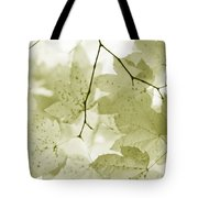 Softness Of Olive Green Maple Leaves Tote Bag