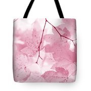 Softness Of Pink Leaves Tote Bag