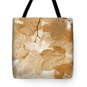 Softness Of Rusty Brown Leaves Tote Bag