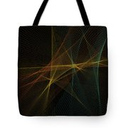 Soil Computer Graphic Line Pattern Tote Bag