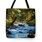 Sol Duc River Above The Falls - Washington Tote Bag