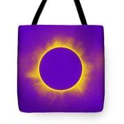 Solar Eclipse In Purple Tote Bag