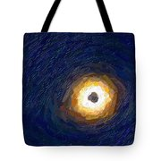 Solar Eclipse In Totality Painting Tote Bag