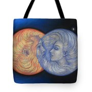 Solar Eclipse Tote Bag by Sue Halstenberg