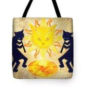 Solar Feline Entity Tote Bag