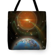 Solar Message Tote Bag by Corey Ford