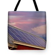 Solar Panels On Roof Of House Tote Bag