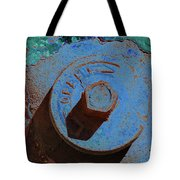 Solarized Rusty Fire Hydrant Tote Bag