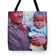 Soldier And Baby Tote Bag