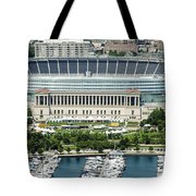 Soldier Field Stadium In Chicago Aerial Photo Tote Bag