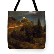 Soldiers Amount Towards A Mountain Fortress Tote Bag