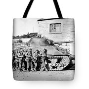 Soldiers And Their Tank Advance Tote Bag