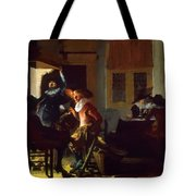Soldiers Beside A Fireplace 1632 Tote Bag