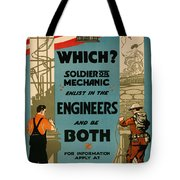 Soldiers Or Mechanic Tote Bag