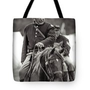 Solider On Horseback Tote Bag