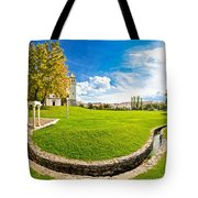 Solin Park And Church Panoramic View Tote Bag