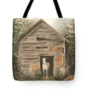 Solitaire Near Enterprise.  Solitary Horse Looking Out From Barn Door Tote Bag by Lynn ACourt
