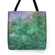 Solitary Almond Tree In Blossom Mallorcan Valley Tote Bag