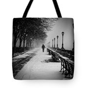 Solitary Man In The Snow Tote Bag