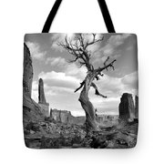 Solitary Park Avenue Tree - Bw Tote Bag