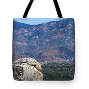 Solitary Pine On Promontory Tote Bag