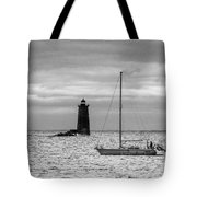 Solitary Sailor, New Castle Sunrise Tote Bag