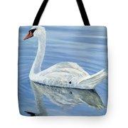 Solitary Swan Tote Bag