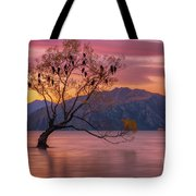 Solitary Willow Tree Tote Bag