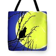 Solitary With Golden Moon Tote Bag
