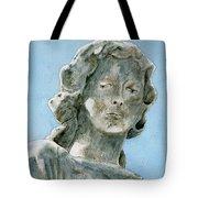 Solitude. A Cemetery Statue Tote Bag