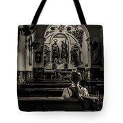 Solitude In Village Church Tote Bag