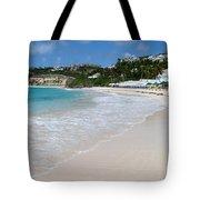 Solitude On Dawn Beach Tote Bag