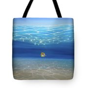 Solo Under The Turquoise Sea Tote Bag