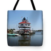 Solomons Island - Drum Point Lighthouse Reflecting Tote Bag