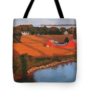 Solomons Red Barn At Sunset Tote Bag