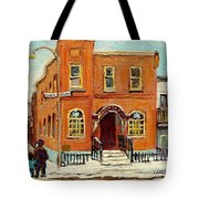 Solomons Temple Montreal Bagg Street Shul Tote Bag by Carole Spandau