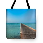 Soma Bay Sea Scape Sunrise Mood Tote Bag by Julis Simo