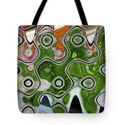 Some Pink And Green Abstract Tote Bag