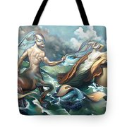 Something Fowl Afloat 2b Tote Bag