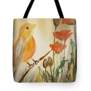 Somewhere In The Poppy Field Tote Bag