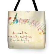 Somewhere Over the Rainbow Tote Bag by Nikki Smith