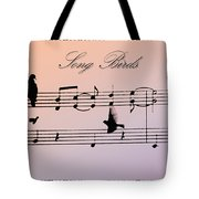 Songbirds With Border Tote Bag