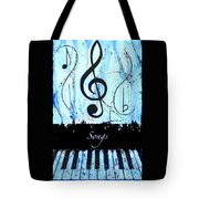 Songs - Blue Tote Bag