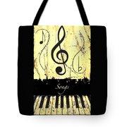 Songs - Yellow Tote Bag