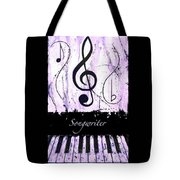 Songwriter - Purple Tote Bag